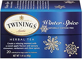 Twinings of London Winter Spice Herbal Tea Bags, 20 Count (Pack of 1)