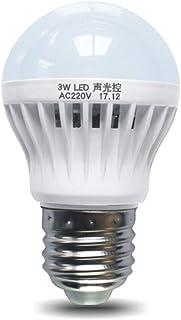 Sound and Light Control Sensor Light E27 Motion Detector Led Bulb Lamp Stair Hallway Pathway Corridor Night Lighting