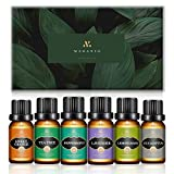 MAGANIO Classic Essential Oils Gift Set Top 6 [Selected A+ Plants] 100% Pure Natural, 10ML Therapeutic Grade Undiluted Oils Kit for Diffuser for Home, Aromatherapy, Massage, Skincare & Haircare