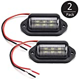 EEEKit 2 Pack 12V 6 SMD LED License Plate Lamp Light for Truck SUV Trailer Van, Step Courtesy Lights,...