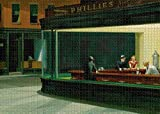 Adults 1000 Piece Nighthawks at The Diner Jigsaw Puzzle Challenging Puzzle Game Large Puzzle Game Artwork for Adults Teens Perfect for Family Fun Multicolor