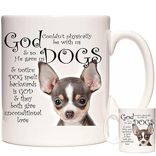 Tazza Chihuahua. Tazza per tè, caffè o cioccolata calda. Regalo Chihuahua. Lavabile in lavastoviglie e adatta al microonde.