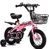 DRAKE18 Bicicleta para niños, Bicicleta para niños, niña, 12/14/16/18 Pulgadas, Adecuada para niños de 2~9 años. Conducción al Aire Libre. Materiales ecológicos no tóxicos,Pink,18inch