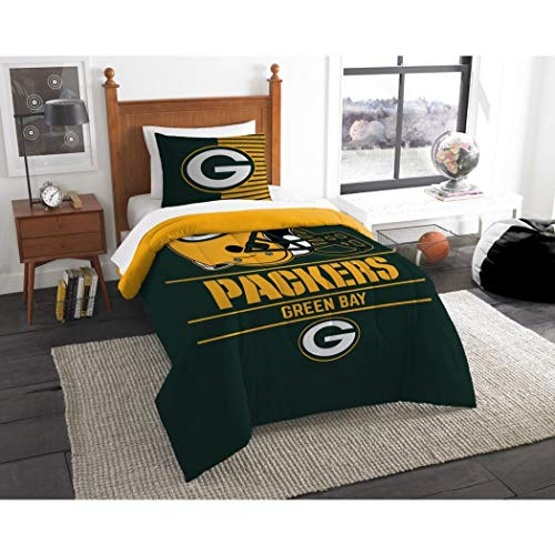 Northwest NFL Green Bay Packers Draft Twin Bettwäsche Tröster Set