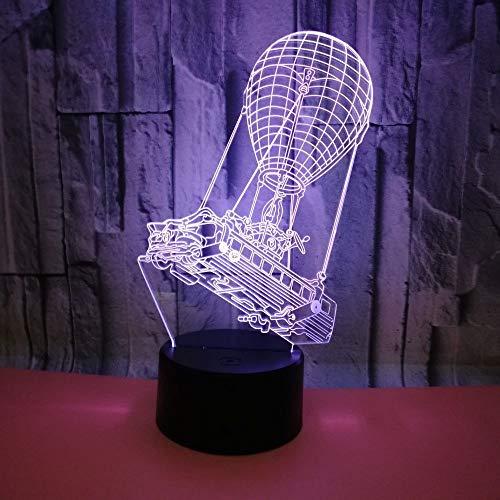 BFMBCHDJ Neues buntes Nachtlicht des Noten-Steigungs-3D tropischer dreidimensionales geführtes Licht A1 des Ballon-Kran-3D schwarze Unterseite