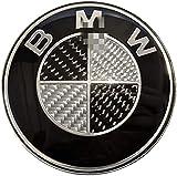 GJPSXTY Emblema para capó/portón trasero de BMW de 82 mm, carbono