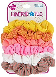 Limited Too Girls Hair Accessories - 6 PC Scrunchies Pack - Bright Neon Scrunchies Ponytail Holders
