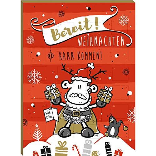 Sheepworld 49824 Adventskalender Bereit, Weihnachten kann kommen, 75 g
