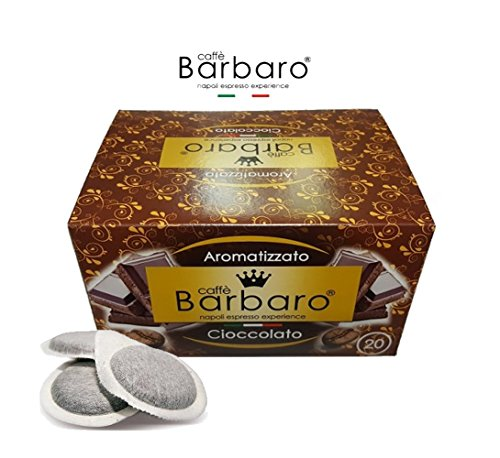 Caffè aromatizzato al cioccolato filtro carta 44 mm BARBARO 20 cialde