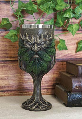 Ebros Gift Myths And Legends Tree Forest Spirit Ent Greenman Deity Wine Goblet Chalice Cup Figurine 7oz Wisteria Ancient Celtic Woodlands Legend Sacred Horned God Kitchen Dining Accent