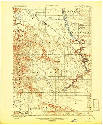 The Dells WI topo map, 1:62500 Scale, 15 X 15 Minute, Historical, 1901, Updated 1918, 20.31 x 16.76 in - Paper (Best Places To Work Remotely In Minneapolis)