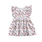 YHLZBNH Christmas Baby Girl Bodysuits + Headdress Bow for 0-24 Months/Sleeveless Lace Dress for Christmas Babies for 1-6 Years (Elder Sister's Dress, 80)