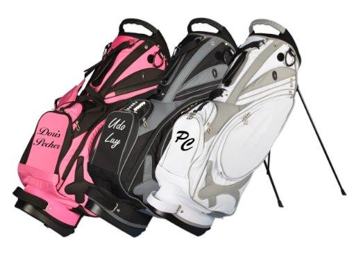 Kellermann Golf sacca da golf tracolla Muirfield in rosa/nero personalizzata con nome/iniziali