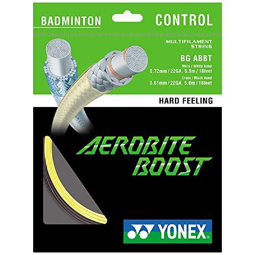 YONEX Badmintonsaite Aerobite Boost gelb/schwarz 10m Set