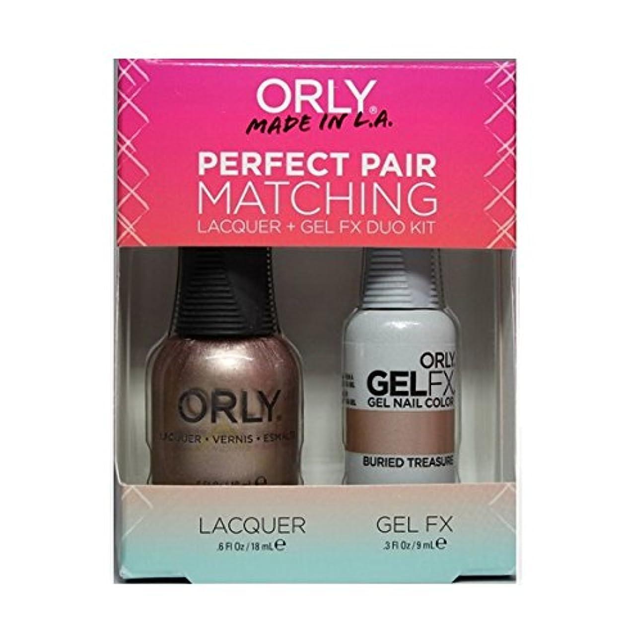 分析する可塑性満員Orly - Perfect Pair Matching Lacquer+Gel FX Kit - Buried Treasure - 0.6 oz / 0.3 oz