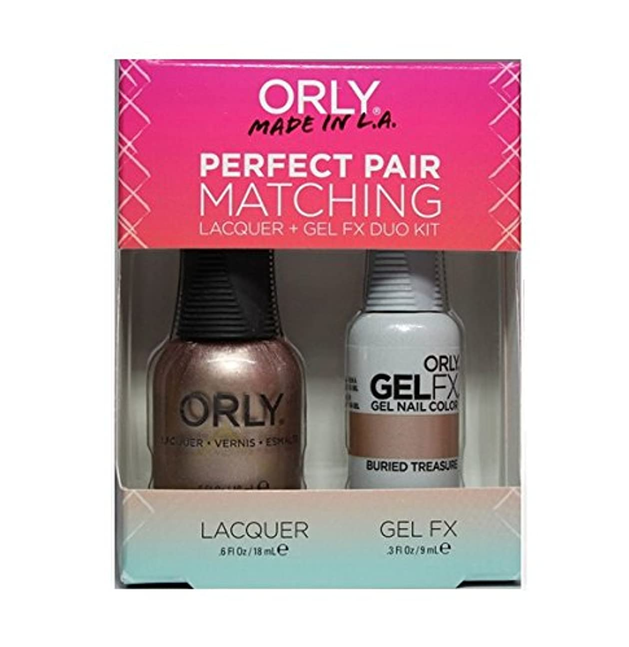 名誉解読する隔離Orly - Perfect Pair Matching Lacquer+Gel FX Kit - Buried Treasure - 0.6 oz / 0.3 oz