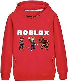 NINIUBAL Roblox Pullover Round Neck Long Sleeve Sweater Cartoon Printed Sweatshirt Leisure Comfortable Pullover Boys and Girls