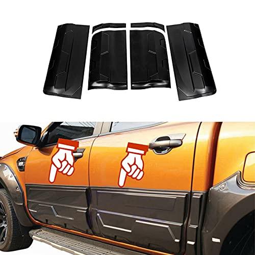 JHCHAN Karosserie Verkleidung Seitentür Schutzleisten für Ford Ranger Wildtrak 2012-2021 T6 T7 T8 XL XLT Raptor Doppelkabine PX MK2 MK3