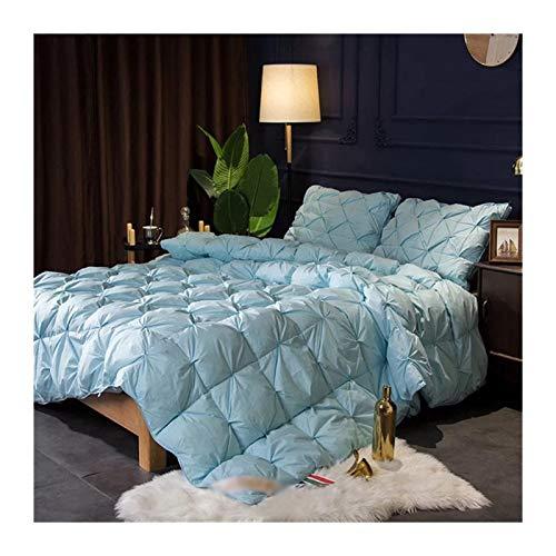 Without Gans Daunendecke verdicken Decke Warme Decken Federbett Twin Queen King Size (Color : Blue, Size : 180x220 3kg)
