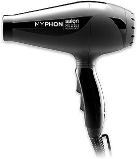 Salon Studio Professional - MyPhon Secador de Pelo Profesional de 2000W - Secador de Pelo con 2 Velocidades y 3 Temperaturas - Color Negro