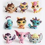 FINIMY Lps Littlest Pet Shop Toys Random 10pcs / Bag Lps Toy Little Pet Shop Toy Animal CatDog...