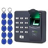OBO HANDS Digital Eléctrico Dedo Escáner Código Lector RFID Sistema de Control de Acceso de Huellas Digitales Biométrico Sistema de Reconocimiento X6 + 10pcs Keyfobs