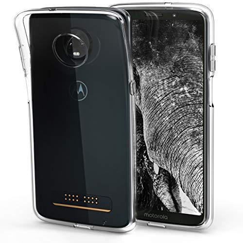 kwmobile Hülle kompatibel mit Motorola Moto Z3 Play - Hülle Handy - Handyhülle in Transparent