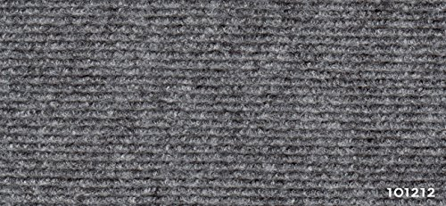 Exclusiv Rips Teppichboden - Grau 101212 - Recyclingfähiger Nadelvlies 2 m x 0,5 m Quadratmeterpreis 5,95€ (1 Bestellmenge 0,5 x 2 Meter = 1 qm / 5 x Bestellmenge = 5 qm = 2,5 x 2 Meter)