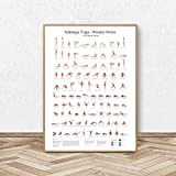NOBRAND Ashtanga Primary Series Yoga Poster Canvas Art Prints Yoga Room Wall Art Decor Girls Fitness Gifts Gym Art Painting Decoration-40X60cm sin Marco