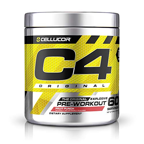 C4 Original Pre Workout Powder Fruit Punch Sugar Free Preworkout Energy Supplement for Men & Women 150mg Caffeine + Beta Alanine + Creatine 60 Servings