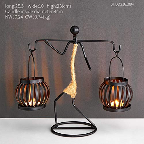 Woondecoratie accessoires Creative Candle Holder Iron Kitchen Romantisch Kandelaar Kerstmis Bar Halloween Party (Color : E)
