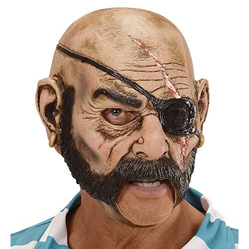 Widmann 00429 Maske Pirat, Rosa/schwarz, Taglia Unica