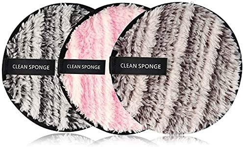 BEAUTYBIGBANG 2021 3PC Coton Demaquillant Lavable Tampons Démaquillants Lavable Coton Lavable Éponge Lingettes Démaquillage Réutilisable Makeup Pads