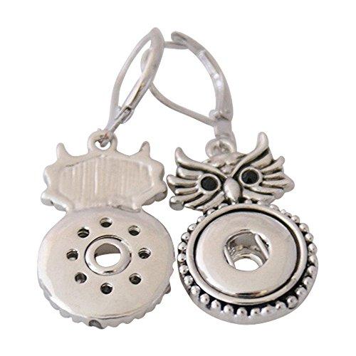 Roestvrij stalen oorbellen voor mini click buttons