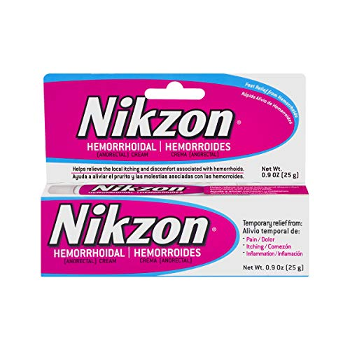 Nikzon Hemorrhoidal Cream, Vasoconstrictor & Anesthetic Cream Pain Itching Inflammation Relief, 0.9...