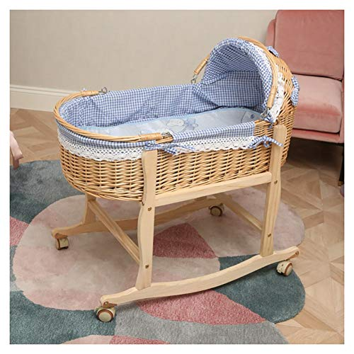 Best Buy! RRH-Cribs Crib Travel,Portable Bamboo Fiber Material Car Go Out Basket (Color : #4, Size :...