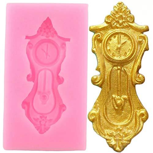 FGHHT Moldes de Silicona para Pasteles con Forma de Reloj 3D, Molde de Resina para Fondant, Molde para Dulces, Herramientas para Decorar Pasteles,moldes paraChocolate