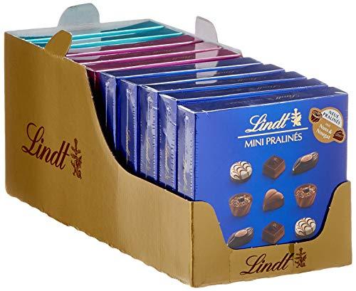 Lindt Mini Pralinés, 5 unterschiedliche Pralinensorten pro Packung, in den Farben Blau, Türkis und Brombeer, glutenfrei, 20er Pack (20 x 44 g)