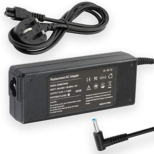 19.5V 4.62A 90W AC Adapter Laptop Charger for HP Pavilion Charger X360 15-f272wm 15-f387wm 15-f233wm 15-f222wm 15-f211wm 15-f337wm 17-g121wm 17-g119dx Power Supply Cord Plug