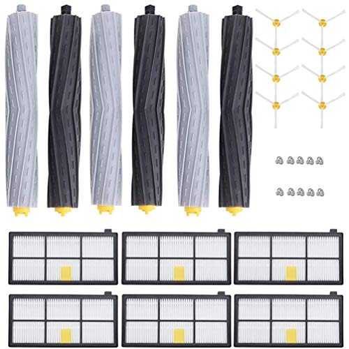 4 filtros 2 extractores 6 cepillos laterales KIT COMPATIBLE CON ROOMBA 966