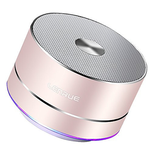 Lenrue A2 Bluetooth スピーカー ポータブル ブルートゥース スピーカー ミニ ワイヤレススピーカー 高音質 低音強化 3W拡声器 マイク内蔵、LEDライト、AUXケーブル、TFカード、Micro USB、iPhone/iPad/Andr