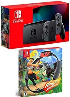Nintendo Switch with Gray Joy-Con Controllers - W Ring Fit Adventure