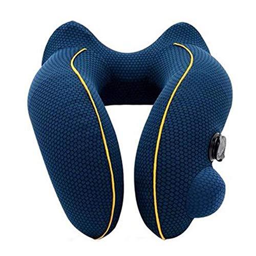 Almohada inflable, en forma de U, tipo de prensa de viaje, siesta portátil del cuello
