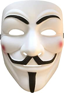 V for Vendetta Anonymous Guy Fawkes Costume Cosplay Mask for Halloween Masquerade Party (Anonymous)
