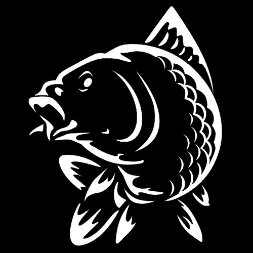 Pescados de Animales Marinos Pegatinas de Coche Divertido Decoración de la Moda Decoración Creativa de PVC Negro/Blanco/Rojo 15 x 12 cm (Color : 2, Size : 15 x 12 cm)