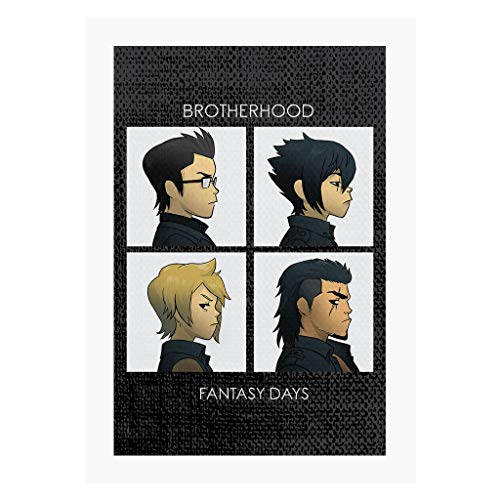 Cloud City 7 Final Fantasy Brotherhood Days A4 Print