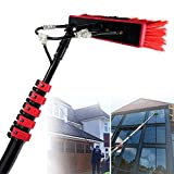 HPDOM 12FT-36FT Window Cleaning Pole Water Fed Telescopic Brush Extendable Cleaner Conservatory Roof,Cleaning Photovoltaic and Solar Panels,30FT/9M