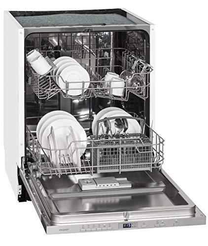 Exquisit Geschirrspüler EGSP 2112.1 E | Vollintegriert, Einbaugerät | 12 Maßgedecke | Weiß