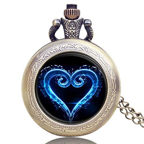 Reloj de bolsillo con diseño de corazón con diseño de corazón para hombre