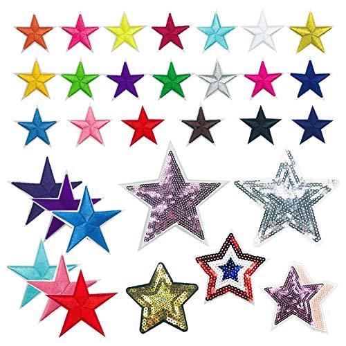 Woohome 31 PCS Assorted Star Iro...